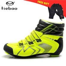 Tiebao-zapatos de ciclismo de carretera para hombre y mujer, zapatillas deportivas transpirables con autosujeción, antideslizantes, para invierno, 2021