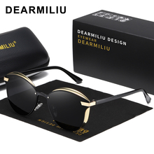 DEARMILIU New Cat Eye Sunglasses Women Polarized Fashion Ladies Sun Glasses Female Vintage Shades Oculos de sol Feminino 0824