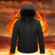 2020 NWE Men Winter Warm USB Heating Jackets Smart Thermosta