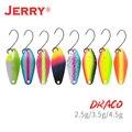 Jerry Драко область форель металлическая блесна, приманка, рыболовная приманка комплект микро-воблер (Wobbler) вертушечная наживка Набор 2,5 г 4,5 Ба...