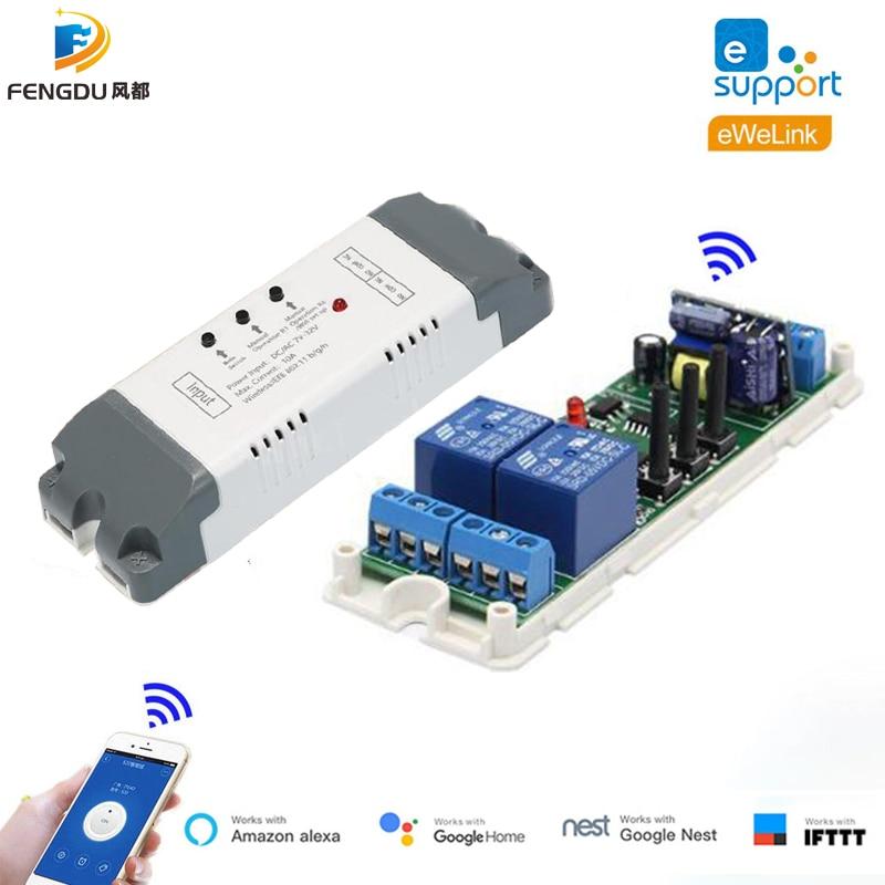 Умный светильник ель eWeLink для подсветки «сделай сам», 2-канальное реле, Wi-Fi модульный переключатель, 7 В постоянного тока, 12 В, 24 В, 32 В, 220 В, пере...