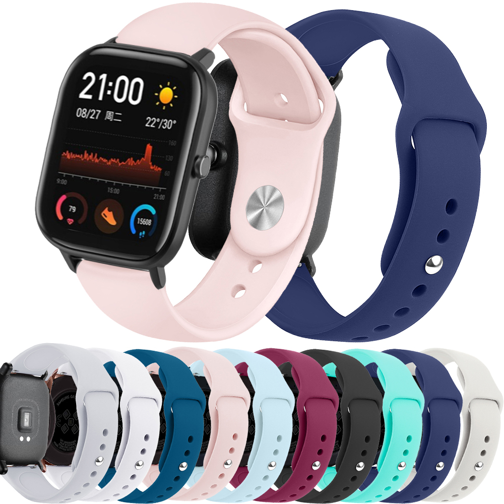 20mm Watchband Replacement Silicone Sport For Samsung watch active <font><b>2</b></font> For <font><b>Amazfit</b></font> GTS Huami Band Bracelet For Huami <font><b>Amazfit</b></font> Bip image