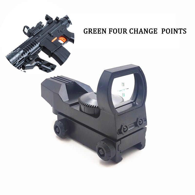 Rail Riflescope Hunting Gun Optics Holographic Green Dot Sight 4 Reticle Tactic