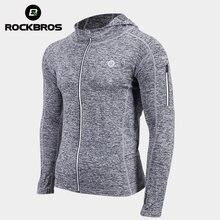 ROCKBROS-Chaqueta de bicicleta Unisex, camiseta absorbente de sudor, abrigo de entrenamiento transpirable, ropa deportiva de secado rápido, equipo de ciclismo