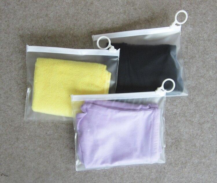 16*13CM sac de rangement en plastique Ziplock sacs de voyage chaussettes cosmétiques sous-vêtements fermeture éclair Valve glissière joint emballage sac 200 pcs/lot