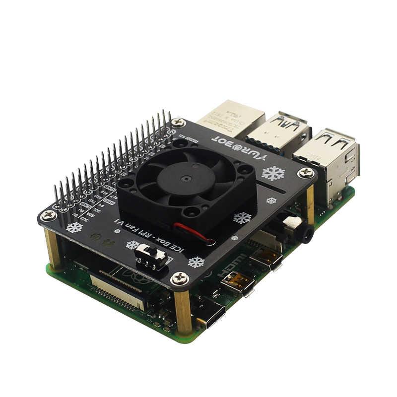 Raspberry Pi LED Module de ventilateur de refroidissement GPIO carte d'extension compatible fpr Raspberry Pi 4 modèle B/3B +/3B/3A +