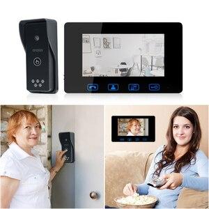 Image 2 - โทรศัพท์ประตูแบบมีสาย 7 สี LCD กันน้ำกล้อง IR Night Vision ระบบอินเตอร์คอม