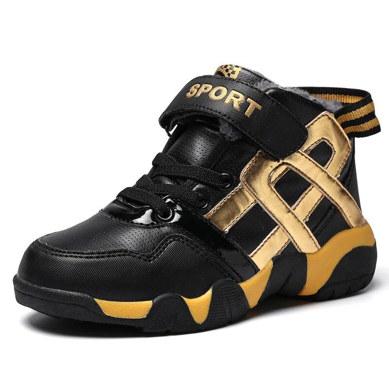 Anne ve Çocuk'ten Tenis Ayakk.'de ULKNN çocuk pamuklu ayakkabılar 2019 kış erkek sıcak peluş spor ayakkabı 7 boys artı kadife kalın su geçirmez kış ayakkabı 6 yıl eski title=