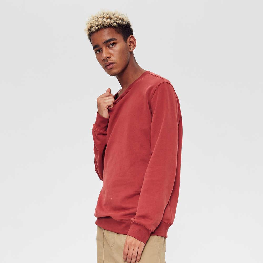 Metersbonwe Autunno E Inverno Nuovo Multicolor Comfort Maglietta Felpata Degli Uomini di Più di Velluto Maglia di Colore Solido Del Pullover Felpe