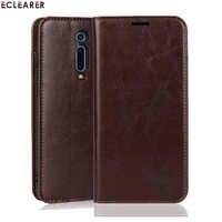 Étui portefeuille ECLEARER pour Xiao mi rouge mi K20/Pro étui de luxe en cuir véritable pour Xiao mi 9T mi 9 T/Pro fentes pour cartes étui à rabat