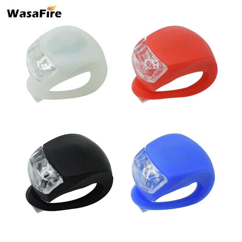 Luces LED de silicona para bicicleta, luces de advertencia para bicicleta, luces de luz trasera, bicicleta, manillar de seguridad