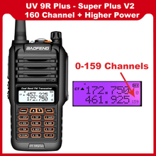 Professional Baofeng UV-9R Plus 160 Channel ip67 waterproof 20-50km walkie talkie Long Range two way radio vhf uhf ham CB Radio
