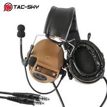 TAC-SKY COMTAC III Silicone Earmuffs Double Pass Edition Outdoor Hunting Sports Noise Reduction Pickup Tactical Headset- CB