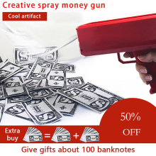 Making Rain Money Gun Red Pink Toy Christmas Gift Party Game 100PCS Cash Fashion Bubble Pack