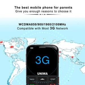 """Image 2 - Wcdma 3G Russische Toetsenbord Oude Man Mobiele Telefoon Sos Knop 1400Mah Batterij 2.31 """"Cellphone Zaklamp Torch Mobiele telefoon Ouderen"""