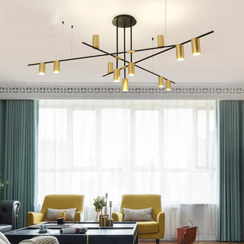 Scandinavian Post-modern LED Ceiling Chandeliers Lighting Creative Designer Hanging Lamp Dining Room Living Room Coffee Lustre
