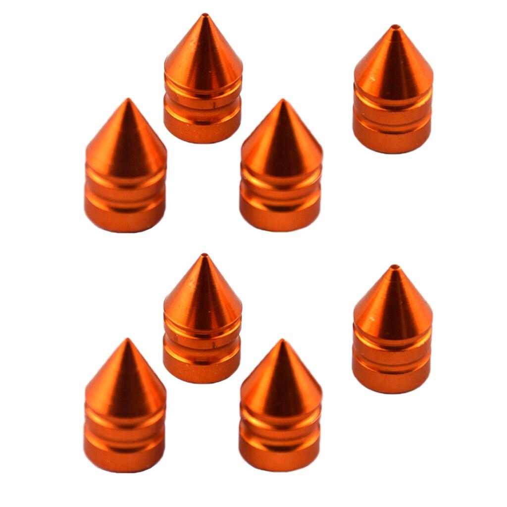 8pcs Replacement Car Truck Wheel Tire Air Valve Stem Caps Dust Covers Orange