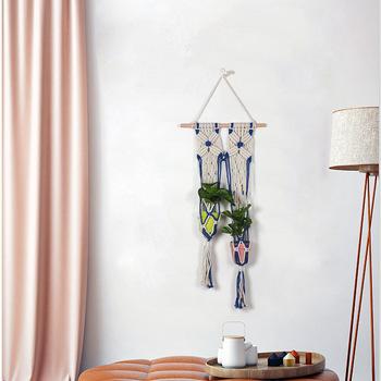 Ręcznie wykonane kosz na kwiaty zielona winorośl doniczka wiszący wazon pojemnik roślinna ściana kosz do ogrodu t0221 tanie i dobre opinie Wiszące kosze