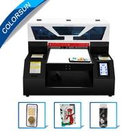 Colorsun 터치 스크린 자동 A4 크기 UV 프린터 전화 케이스 프린터 유리 목재 프린터 실린더 LED 평판 uv 프린터