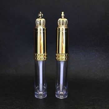 Nowa złota korona błyszczyk kosmetyczny do ust różdżka tuba puste jasne makijaż błyszczyk pędzel do ust butelka piękne rzęsy dzielony pojemnik