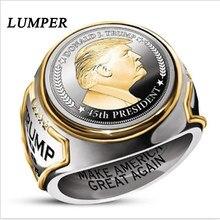 Изысканное мужское модное кольцо LUMPER «сделай Америку снова великолепной» статуя президента Трампа кольцо для выборов кольцо поддержки Тра...