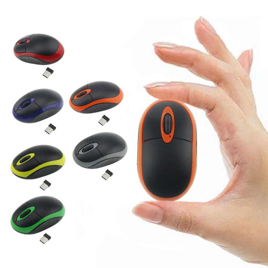 Baru Fashion 2.4G Wireless Mini Mouse Tanpa Kabel Mouse Optik untuk Komputer Laptop Notebook