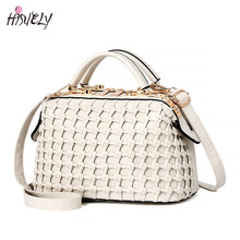 HISUELY Female Bags Handbags Women Famous Designer Solid Weaving Doctor