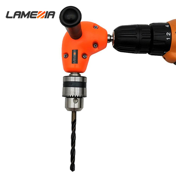 цена на LAMEZIA portable 90 Degree Right Angle Drill Bit Chuck Practical Durable Keyless Adapter Attachment Wood Drilling