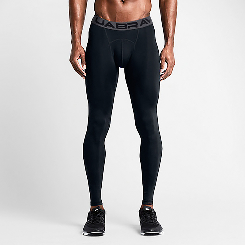 Men's Sports Pants Elastic Running Trousers Compression Gym Fitness Tights Exercise Training Leggings Breathable Quick Dry Sweat