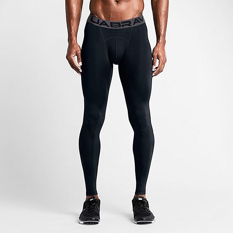 Брюки мужские спортивные компрессионные, эластичные штаны для бега, спортивные Леггинсы для фитнеса, дышащие быстросохнущие спортивные шт...