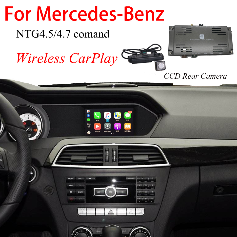 Plug and Play Original Car Android Auto Screen Mirroring Interface CarPlay Article With Rear View Camera For <font><b>Mercedes</b></font> <font><b>B200</b></font> <font><b>W246</b></font> image