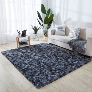 Новые плюшевые ковры, градиентный однотонный ковер, пушистый мягкий ковер для гостиной, плотные коврики для дверей для детской спальни, сер...
