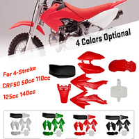 8Pcs 4 Color 50cc 110cc 125cc 140cc Plastic 4 Stroke CRF50 Pit Bike Set Mudguard Seat