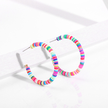 Clay Earrings Jewelry Beads Surfer Handmade Polymer Colorful Gifts Women Bohemia