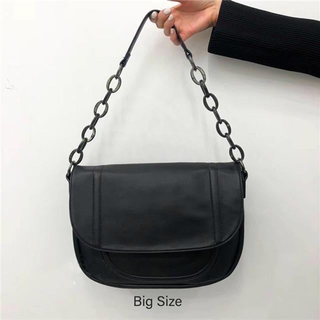 Nuleez big shoulder bag leather cow skin latest fashion design tote bag two sizes travelling bag