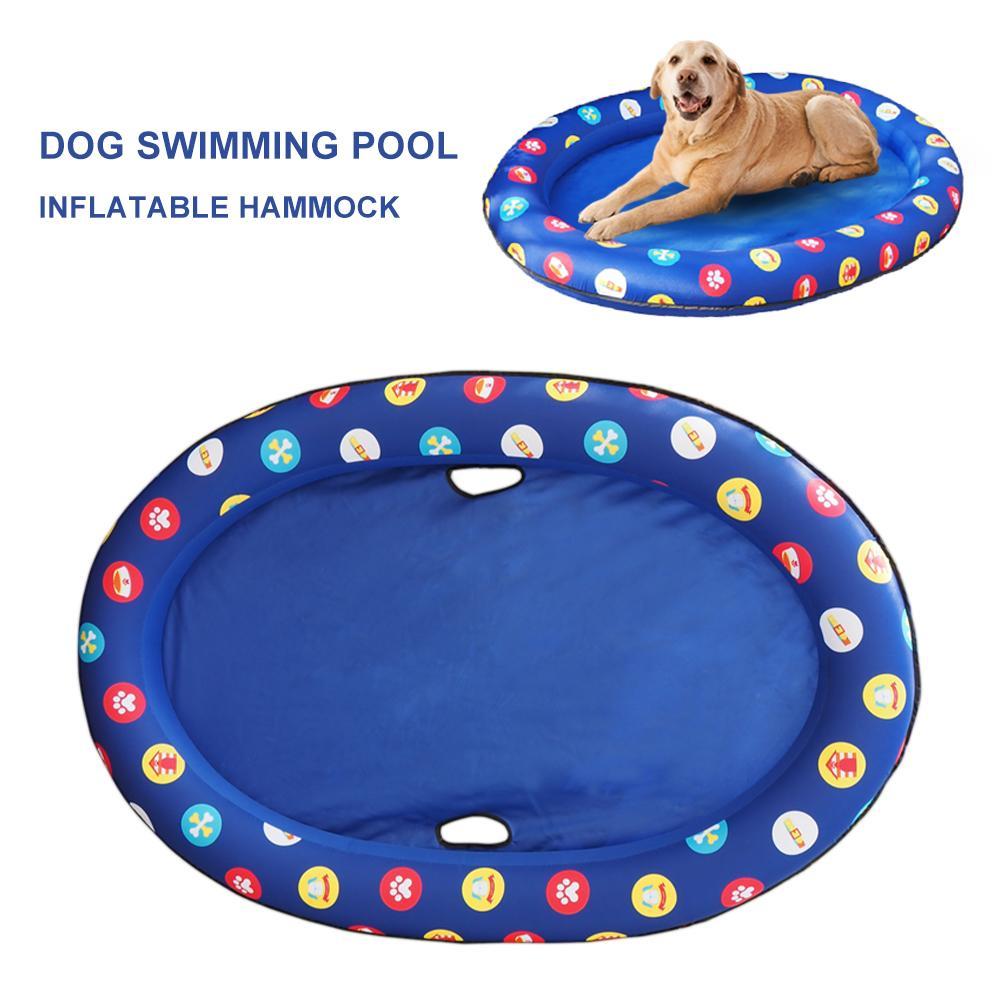 Dog Pool Float Pet Hammock Float Pet Swimming Pool Inflatable Hammock Pet Swimming Ring Dog Swimming Pool