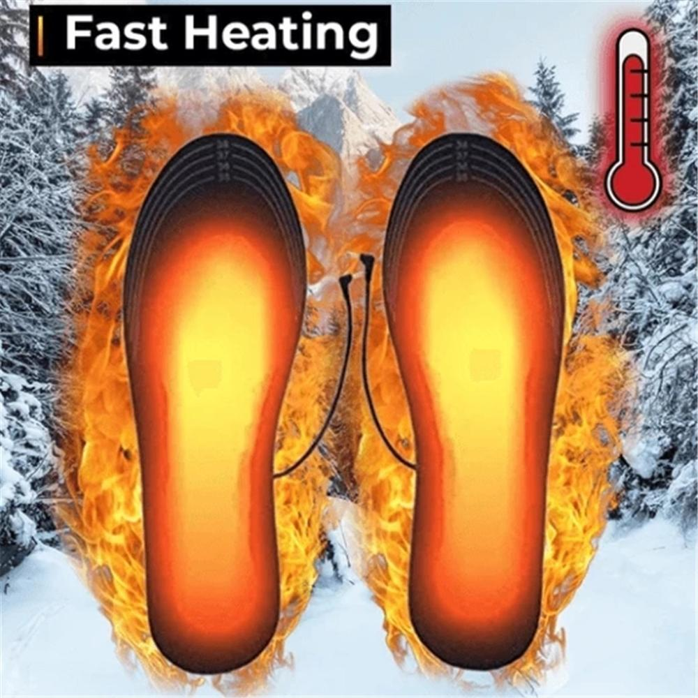 Winter Outdoor Unisex Heating Insole Foot Shoes Heater Rechargeable Heated Insoles Wkladki Do Butow   #3N28