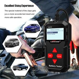 Image 4 - KONNWEI – KW210 testeur intelligent automatique de batterie de voiture, analyseur automatique de batterie de voiture, 100 à 2000CCA