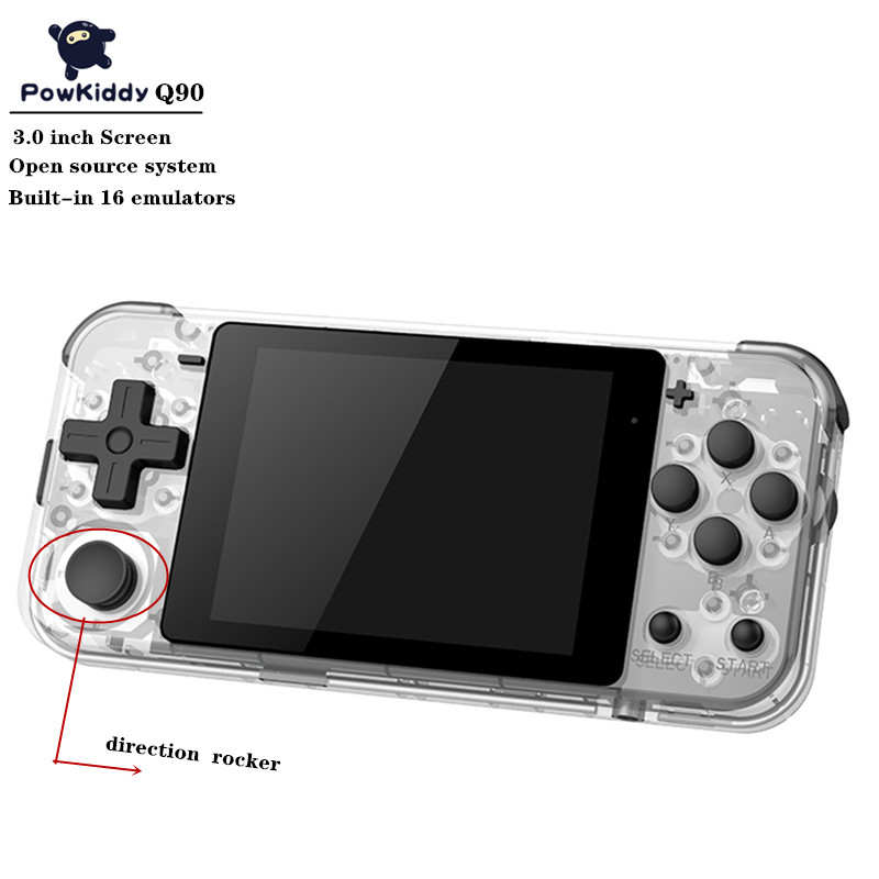 POWKIDDY Q90 Handheld Game Console HD Screen Open Dual System 16 Simulator Built in 4000+ games Handheld Game player