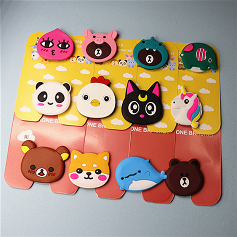 Universal Mobile Phone Stand Gasbag Bracket Expanding Finger Phone Holder Cartoon Sakura Momoko Stitch For Xiaomi