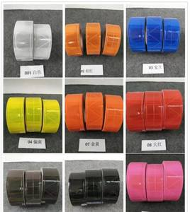 5cm High Light Multi-Model Warning Reflective PVC Tape For The Clothing Multicolor