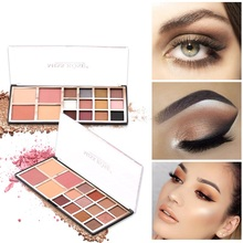 Makeup Matte Shimmer Glitter Eye Shadow Waterproof Palette Powder Pigment Nude Eyeshadow Make Up Blush Pressed Powder Pallete free shipping miss rose hexagon hand make up case makeup set of matte shimmer eye shadow blush powder eyebrow concealer lipgloss