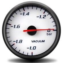 цена на 12V Vacuum Gauges Bar Gauge - 1~0 Bar Black 60mm Boost Gauge kit Car Motor Bar Boost Vacuum Sensor Meter vacuometro link