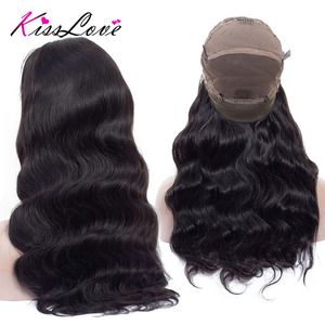 Image 2 - Full Lace Human Hair Wigs for Black Women Preplucked Bleached Knots Full Lace Wigs Brazilian Body Wave Wigs Remy Hair Kiss Love