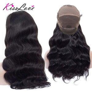 Image 2 - Pelucas de cabello humano con encaje completo para mujeres negras, nudos blanqueados prearrancados, pelucas de encaje completo, cabello brasileño ondulado, beso de amor, cabello Remy