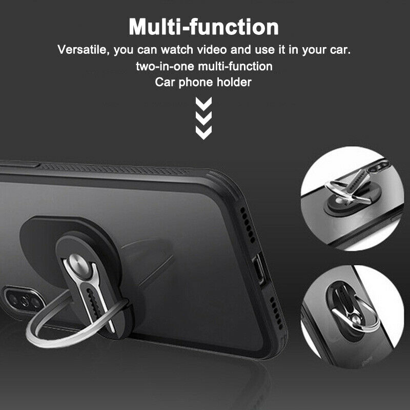 Multi-function Mobile Phone Holder 360 Degree Car Air Vent Grip Mount Stand Rotation Magnetic Finger Ring Phone Holder Bracket