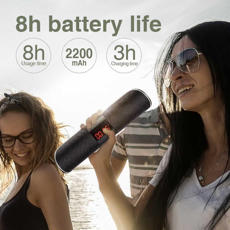 SANLEPUS Bluetooth Outdoor Lautsprecher Metall Tragbare Super Bass Drahtlose Lautsprecher 3D Stereo Musik Surround Mit TFCard Aux