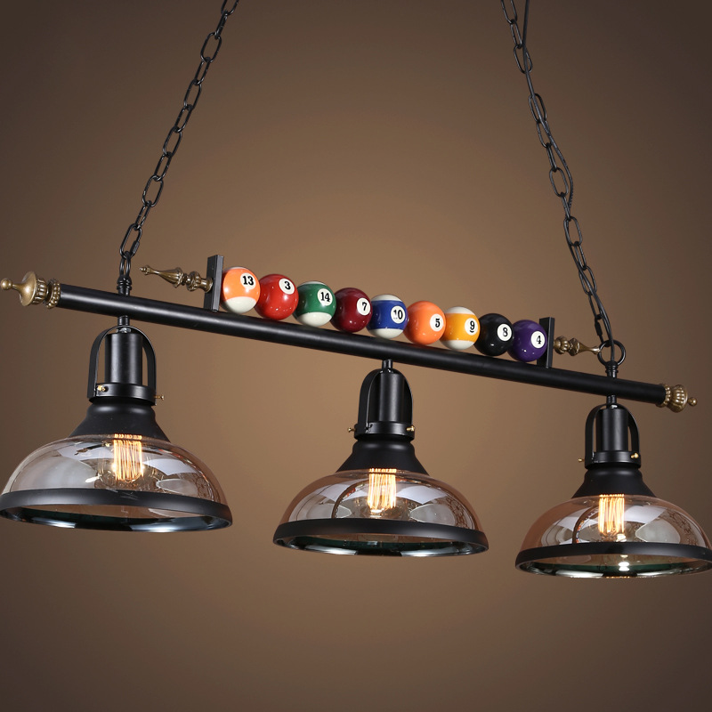 American Retro Chandelier Restaurant Bar Billiards Shop Decorated With Creative Nostalgic Lamps Home Decor Cafe Pendant Lamp
