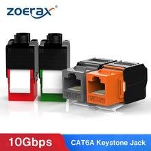Zoerax cat6a ferramenta menos keystone jack rj45 utp keystone módulo adaptador sem ferramenta punch down módulos de rede rj45 acopladores necessários