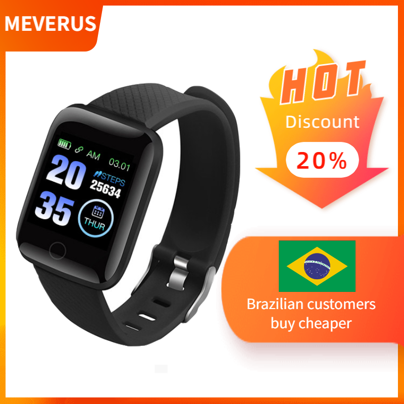 In Voorraad! D13 Smart Horloges 116 Plus Hartslag Horloge Smart Polsband Sport Horloges Smart Band Waterdichte Smartwatch Android A2